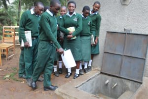 The Water Project: Friends Kuvasali Secondary School -  Site Maintenance At The Tank Demonstrations