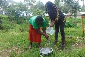 The Water Project: Bukhaywa Community, Ashikhanga Spring -  Handwashing