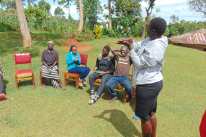 The Water Project: Chepnonochi Community, Shikati Spring -  Teaching Steps Of Handwashing