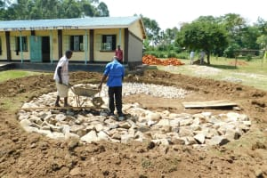 The Water Project: Makale Primary School -  Stone Foundation Laying