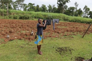 The Water Project: Harambee Community, Elijah Kwalanda Spring -  Hanging Clothes To Dry