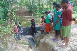 The Water Project: Bukhaywa Community, Ashikhanga Spring -  Site Management Training