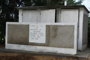 The Water Project: Friends Kuvasali Secondary School -  Completed Latrines