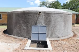 The Water Project: Friends School Mahira Primary -  Finished Rain Tank