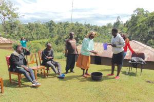 The Water Project: Chepnonochi Community, Shikati Spring -  Handwashing Session