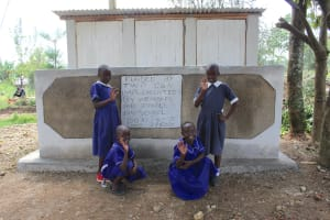 The Water Project: Makale Primary School -  Girls At Their Completed Vip Latrines