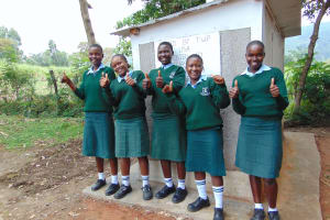 The Water Project: Friends Kuvasali Secondary School -  Girls At Their Latrines