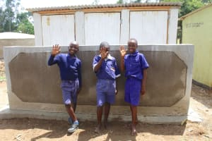 The Water Project: Makale Primary School -  Boys Happy At Their New Latrines