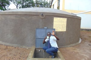 The Water Project: Friends Secondary School Shirugu -  Student Abraham Drinking Water