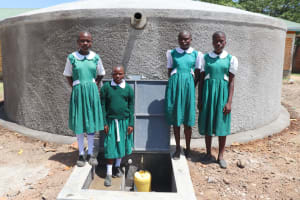 The Water Project: Friends School Mahira Primary -  The Ladies Posing At The Tank