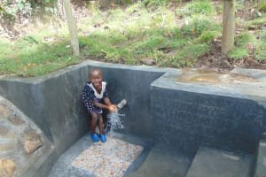 The Water Project: Bukhaywa Community, Ashikhanga Spring -  Smiles At The Spring