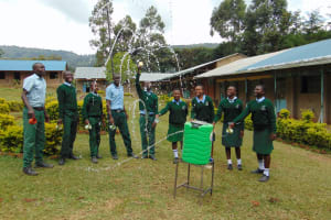 The Water Project: Friends Kuvasali Secondary School -  Having Fun At A Handwashing Point