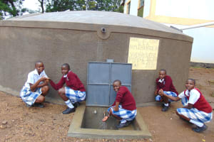 The Water Project: Friends Secondary School Shirugu -  Students Posing At The Tank