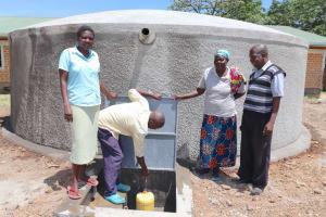 The Water Project: Friends School Mahira Primary -  School Staff At The Rain Tank