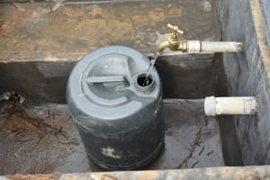 The Water Project: St. Peter's Khaunga Secondary School -  Clean Water Flowing From Rain Tank
