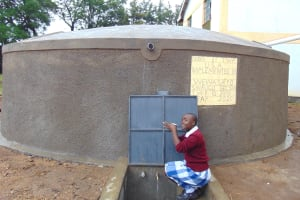 The Water Project: Friends Secondary School Shirugu -  Student Drinking Water