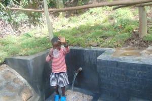 The Water Project: Bukhaywa Community, Ashikhanga Spring -  Yum Clean Water