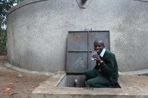 The Water Project: Friends Kuvasali Secondary School -  A Student Drinking Water