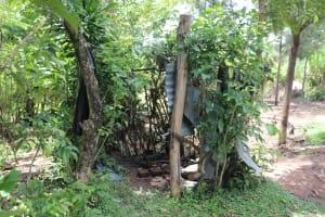 The Water Project: Mahira Community, Litinyi Spring -  Bathing Shelter
