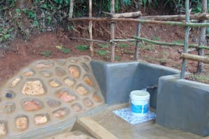 The Water Project: Chepnonochi Community, Shikati Spring -  Completed Spring