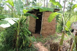 The Water Project: Mahira Community, Litinyi Spring -  Latrine