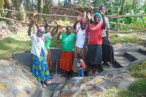 The Water Project: Bukhaywa Community, Ashikhanga Spring -  Celebrating The Spring