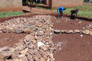 The Water Project: Gamalenga Primary School -  Reinforcing Foundation With Stones