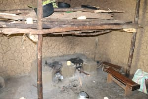 The Water Project: Mahira Community, Litinyi Spring -  Firewood And Stove Inside Kitchen