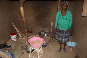 The Water Project: Mukhonje Community, Mausi Spring -  Grace Inside Her Kitchen