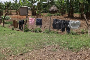 The Water Project: Mukhuyu Community, Chisombe Spring -  Clothes Hung On A Fence