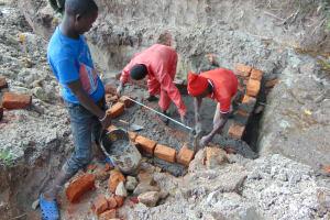 The Water Project: Bukhaywa Community, Ashikhanga Spring -  Brick Work