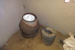 The Water Project: Mahira Community, Jairus Mwera Spring -  Water Storage Pots