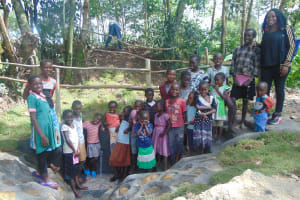 The Water Project: Bukhaywa Community, Ashikhanga Spring -  All Smiles At The Spring