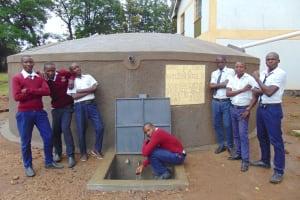 The Water Project: Friends Secondary School Shirugu -  Students Posing At Rain Tank
