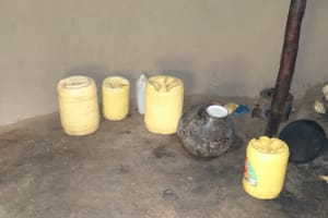 The Water Project: Mahira Community, Litinyi Spring -  Water Storage Containers
