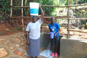 The Water Project: Chepnonochi Community, Shikati Spring -  Happy Spring Users