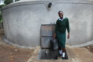 The Water Project: Friends Kuvasali Secondary School -  Student Collecting Water