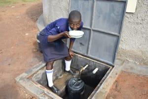 The Water Project: St. Peter's Khaunga Secondary School -  Enjoying A Drink