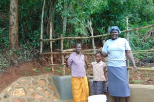 The Water Project: Chepnonochi Community, Shikati Spring -  Thank You