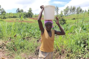 The Water Project: Mahira Community, Litinyi Spring -  Ready To Carry Water