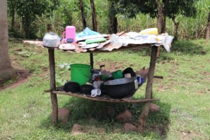 The Water Project: Mahira Community, Wora Spring -  Dishrack