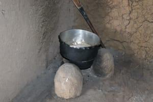 The Water Project: Mahira Community, Litinyi Spring -  Fireplace Inside Kitchen