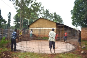 The Water Project: Gamalenga Primary School -  Setting The Wire For Walls