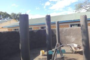 The Water Project: Friends School Mahira Primary -  Tank Pillar Construction
