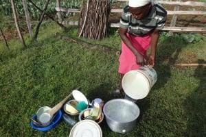 The Water Project: Mahira Community, Kusimba Spring -  Washing Utensils