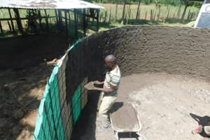 The Water Project: St. Peter's Khaunga Secondary School -  Interior Cement Work