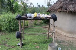 The Water Project: Mukhonje Community, Mausi Spring -  Dishrack
