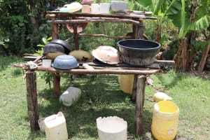 The Water Project: Mukhuyu Community, Chisombe Spring -  Dishrack