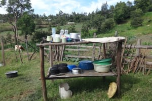 The Water Project: Mahira Community, Kusimba Spring -  Dishrack