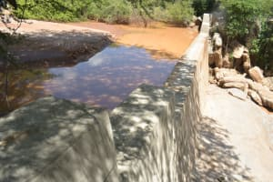 The Water Project: Katovya Community -  Complete Dam After Recent Rains